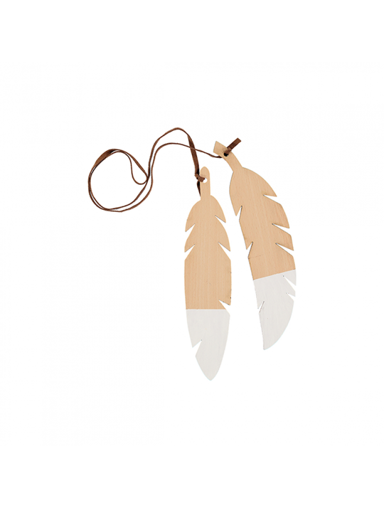 FEATHERS DUO- white