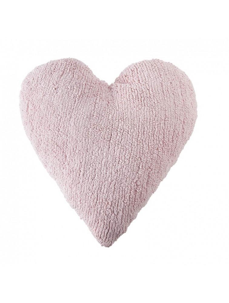 CUSHION HEART PINK