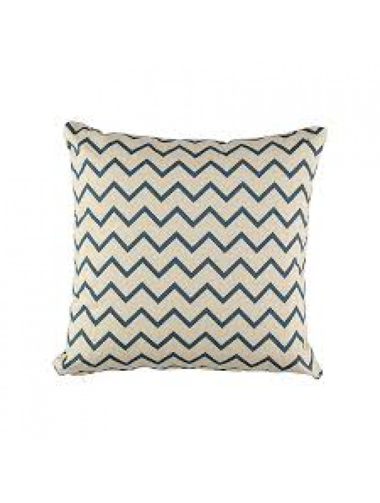 CUSHION ATHENA- ZIG ZAG BLUE